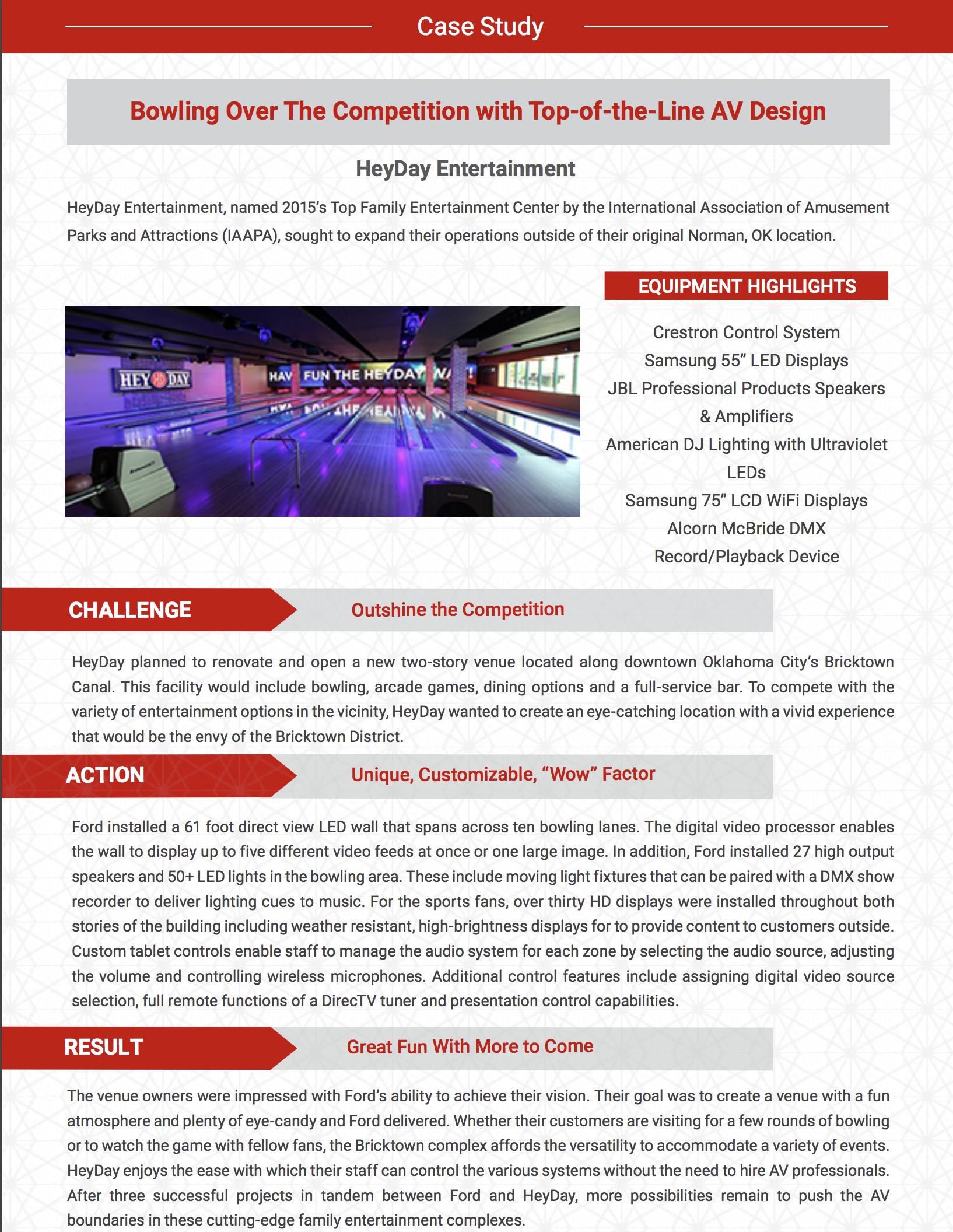 case study heyday entertainment ford av rh fordav com Ford DVD Entertainment System Ford Navigation System
