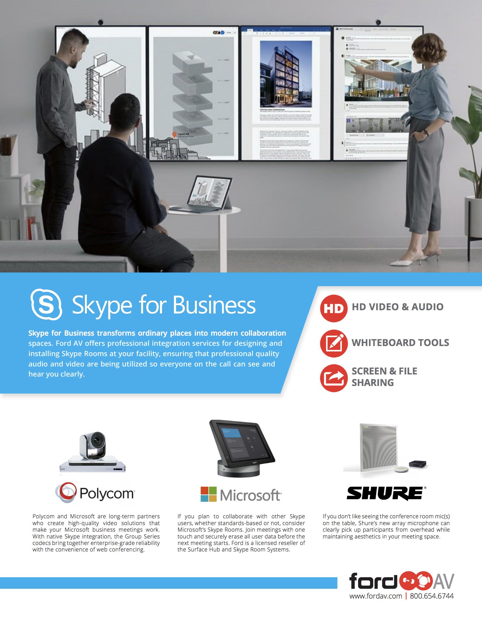 Skype for Business – Ford AV